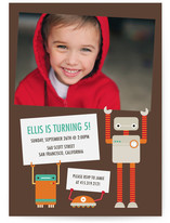 Robot Friends Children&#039;s Birthday Party Invitations