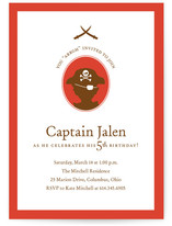 a pirate&#039;s life Children&#039;s Birthday Party Invitations