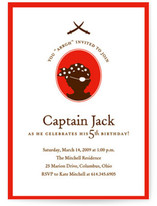 a pirate's life Children's Birthday Party Invitations