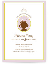 princess Children's Birthday Party Invitations