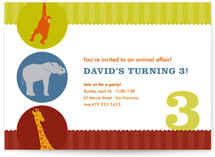 Circus Children's Birthday Party Invitations