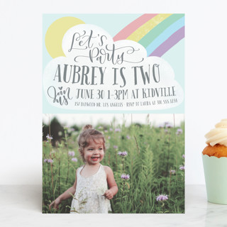 Rainbow Children's Birthday Party Invitations