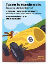 Raceway Children&#039;s Birthday Party Invitations