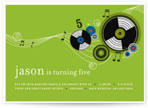 Records Children&#039;s Birthday Party Invitations