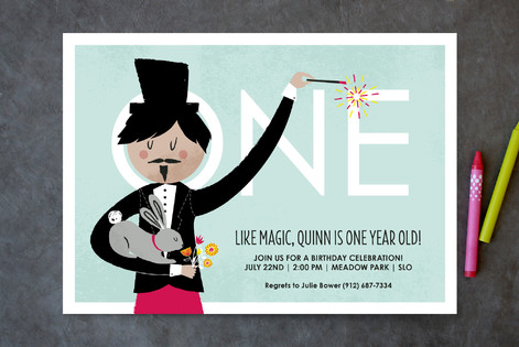 Abracadabra! Children's Birthday Party Invitations