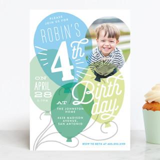 Balloon Party Children's Birthday Party Invitations