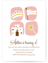 royal celebration Children's Birthday Party Invitations