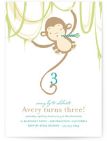 Monkey Around Children&#039;s Birthday Party Invitations