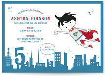 superhero Children&#039;s Birthday Party Invitations