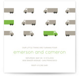 Truck Parade Children&#039;s Birthday Party Invitations