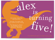 T-rex party Children&#039;s Birthday Party Invitations