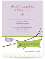 Tweet Tweet Children's Birthday Party Invitations