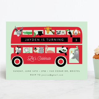 London Zoo Children's Birthday Party Invitations