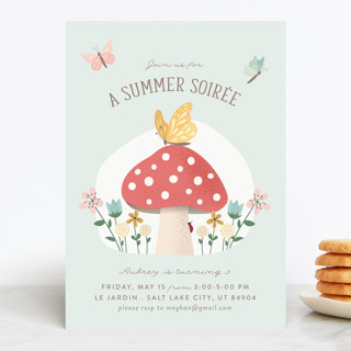 Summer Soiree Children's Birthday Party Invitations