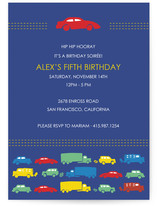 Modern Transportation Children&#039;s Birthday Party Invitations