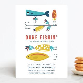Gone Fishin' Children's Birthday Party Invitations