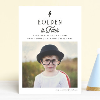 Striking Children's Birthday Party Invitations