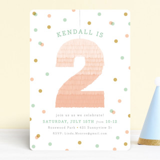 Ombre Pinata Children's Birthday Party Invitations