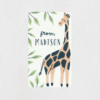 Wild Giraffe Children's Birthday Party Stickers