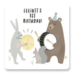 bears marching band Children's Birthday Party Stickers