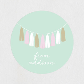 Gilded Garland Children's Birthday Party Stickers