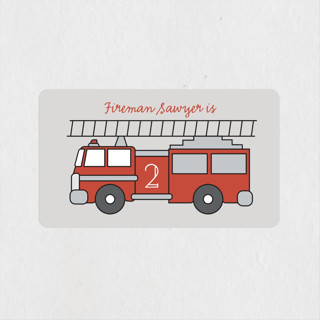 Fire House Party Children's Birthday Party Stickers