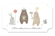 bears birthday party Children's Birthday Party Stickers