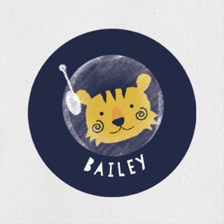 Outer Space Children's Birthday Party Stickers