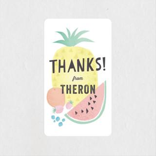 Tutti Frutti Children's Birthday Party Stickers