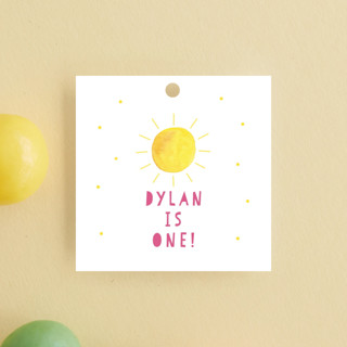 Little Sunshine Children's Birthday Party Favor Tags