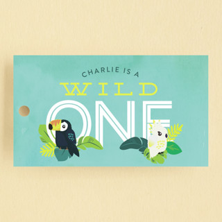 Jungle Birds Children's Birthday Party Favor Tags