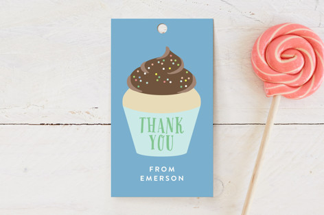 Cupcake Topper Children's Birthday Party Favor Tags