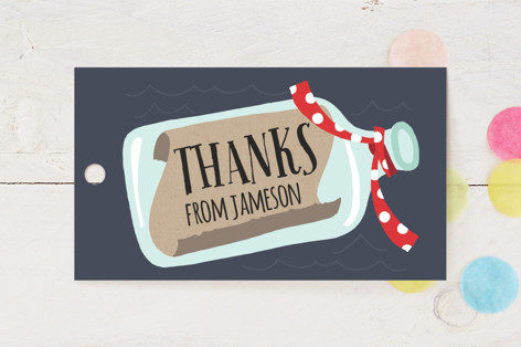 Message In A Bottle Children's Birthday Party Favor Tags