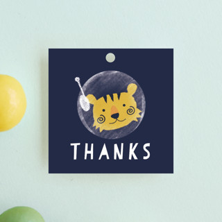 Outer Space Children's Birthday Party Favor Tags