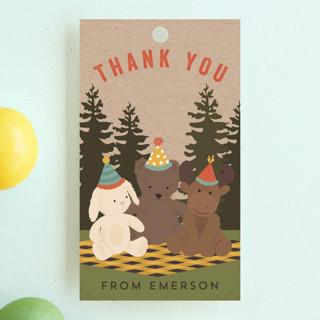 Teddy Bear Picnic Children's Birthday Party Favor Tags