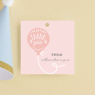 Balloon Children's Birthday Party Favor Tags