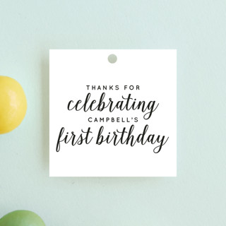 Let's Celebrate a Birthday Children's Birthday Party Favor Tags