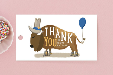 Old West Children's Birthday Party Favor Tags