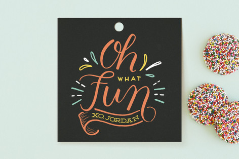 One Is Fun Children's Birthday Party Favor Tags