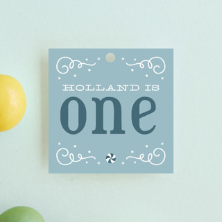 Wintery Fun Children's Birthday Party Favor Tags
