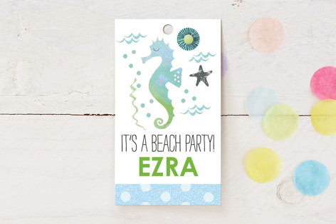 Fun in the Sun Beach Party Children's Birthday Party Favor Tags