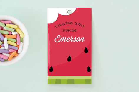 Summer Melon Children's Birthday Party Favor Tags