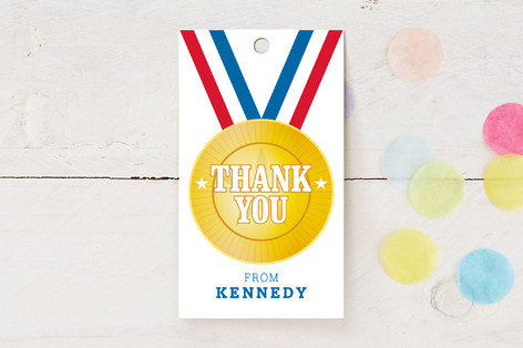 Go For The Gold Children's Birthday Party Favor Tags