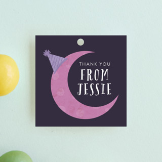 Late Over Children's Birthday Party Favor Tags