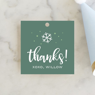 Snowfall Children's Birthday Party Favor Tags
