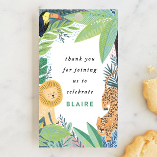 Jungle Animal Sketchbook Children's Birthday Party Favor Tags