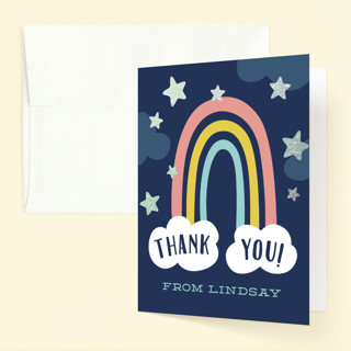 Magical Foil-Pressed Children's Birthday Party Thank You Cards