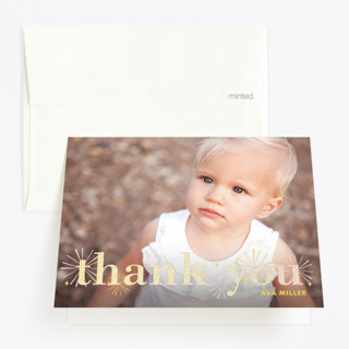 Sparklers Foil-Pressed Children's Birthday Party Thank You Cards