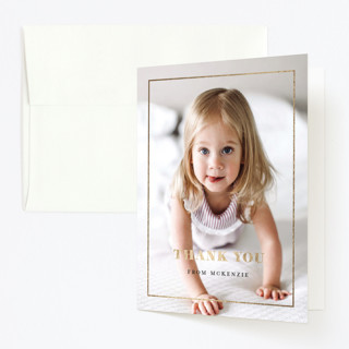 Turning One Foil-Pressed Children's Birthday Party Thank You Cards