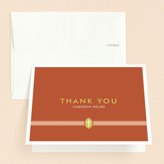 Ribbon & Cross Confirmation Thank You Cards